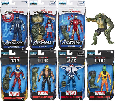 Marvel Legends 6 Inch Action Figure Gamerverse Abomination Series - Set of 7 (Build-A-Figure Gamerverse Abomination)