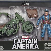 Marvel Legends Infinite 6 Inch Action Figure & Vehicle Riders Series - Captain America With Motorcycle