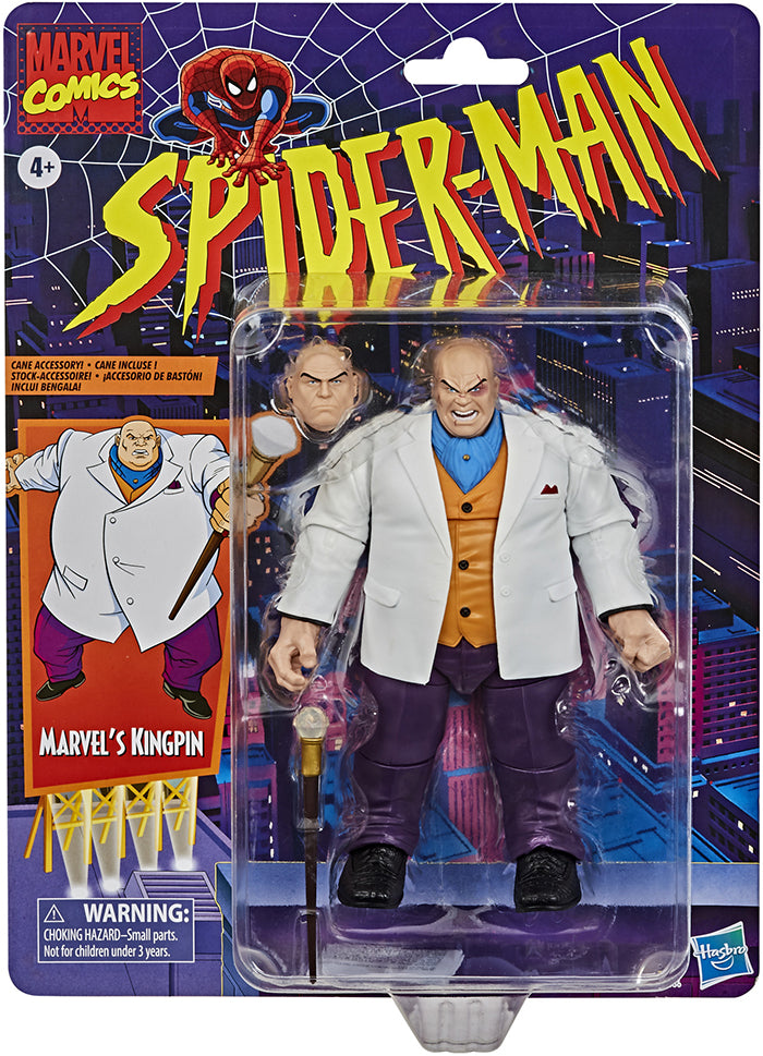 Marvel Legends Retro 6 Inch Action Figure Spider-Man Series - Kingpin
