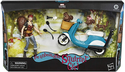 Marvel Legends 6 Inch Action Figure & Vehicle Set Riders Series - The Unbeatable Squirrel Girl