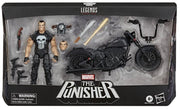 Marvel Legends 6 Inch Action Figure Riders Series - The Punisher with Motorcycle
