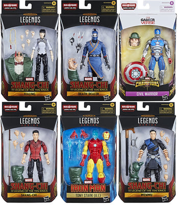 Marvel Legends Shang-Chi 6 Inch Action Figure BAF Mr. Hyde - Set of 6 (Build-A-Figure Mr. Hyde)