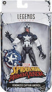 Marvel Legends Spdier-Man 6 Inch Action Figure Maximum Venom Exclusive - Venomized Captain America