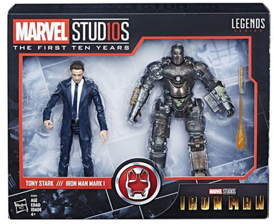 Marvel Legends Studios 6 Inch Action Figure 10th Anniversary Series - Tony Stark - Iron Man Mark I