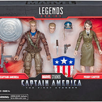 Marvel Legends Studios 6 Inch Action Figure 2-Pack Series - Captain America & Peggy Carter