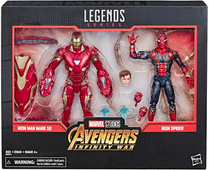 Marvel Legends Studios 6 Inch Action Figure 2-Pack Series - Iron Man Mark 50 & Iron Spider