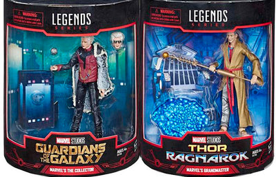Marvel Legends Studios 6 Inch Action Figure Box Set Exclusive - The Collector and Grandmaster SDCC 2019