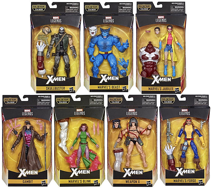 Marvel Legends X-Men 6 Inch Action Figure BAF Caliban Series - Set of 7 (Build-A-Figure Caliban)2019)