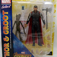 Marvel Select 7 Inch Action Figure Avengers Infinity War - Thor with Groot