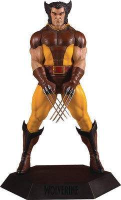 Marvel Wolverine 1980 9 Inch Statue Figure Collectors Gallery - Unmasked Brown Wolverine