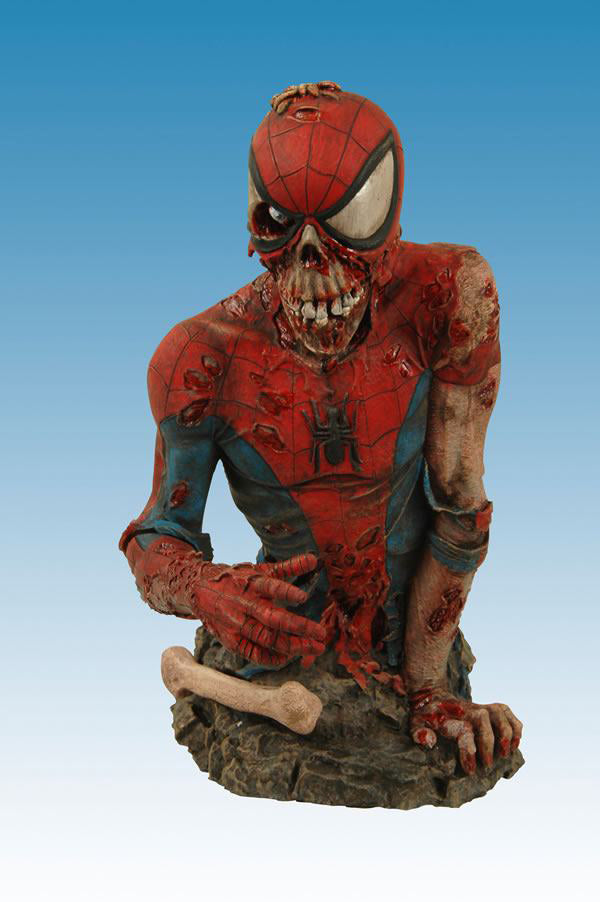 Marvel Zombies 6 Inch Bust Statue - Spider-Man Zombie