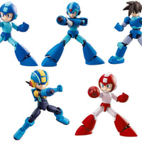 Mega Man 2 Inch Mini Figure Shokugan 66 Action Dash - Set of 5