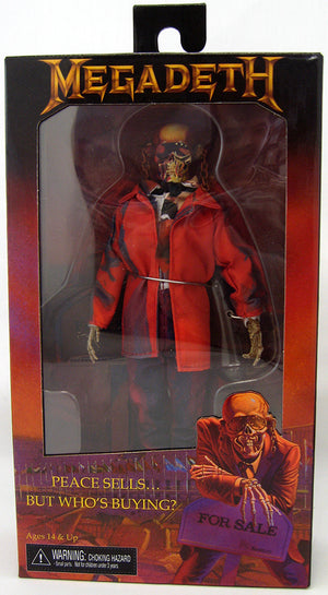 Megadeth 8 Inch Action Figure Clothed Series - Vic Rattlehead