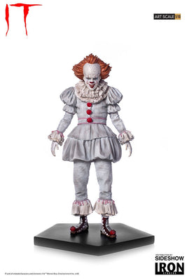 Movie 1:10 Art Scale 8 Inch Statue Figure IT - Pennywise Iron Studios 904012