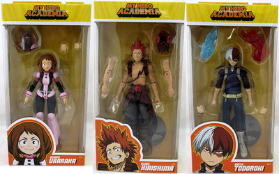 My Hero Academia 7 Inch Action Figure Series 2 - Set of 3 (Ochaco - Eijiro - Shoto)