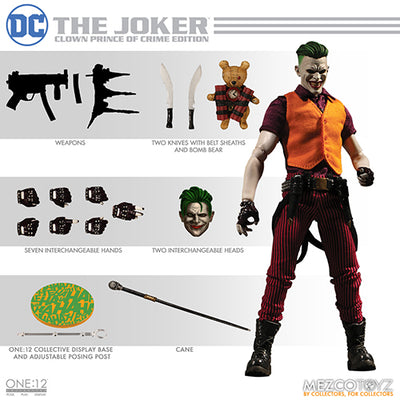 One-12 Collective 6 Inch Action Figure Dc Comics - Joker Clown Prince Of Crime Edition