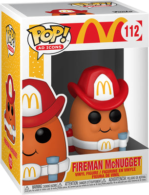 Pop Ad Icons McDonalds 3.75 Inch Action Figure - Fireman McNugget #112