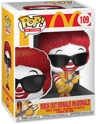 Pop Ad Icons McDonalds 3.75 Inch Action Figure - Rock Out Ronald McDonald #109