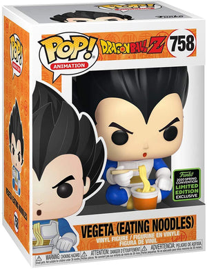 Pop Animation 3.75 Inch Action Figure Dragonball Z - Vegeta Eating Noodles #758 Exclusive