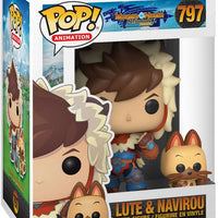 Pop Animation Monster Hunter 3.75 Inch Action Figure - Lute & Navirou #797