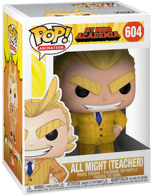 Pop Animation 3.75 Inch Action Figure My Hero Academia - All Might Teacher #604