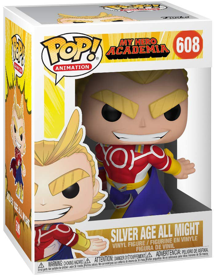 Pop Animation 3.75 Inch Action Figure My Hero Academia - Silver Age All Might #608