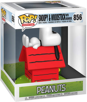 Pop Animation Peanuts 3.75 Inch Action Figure - Snoopy & Woodstock with Doghouse #856