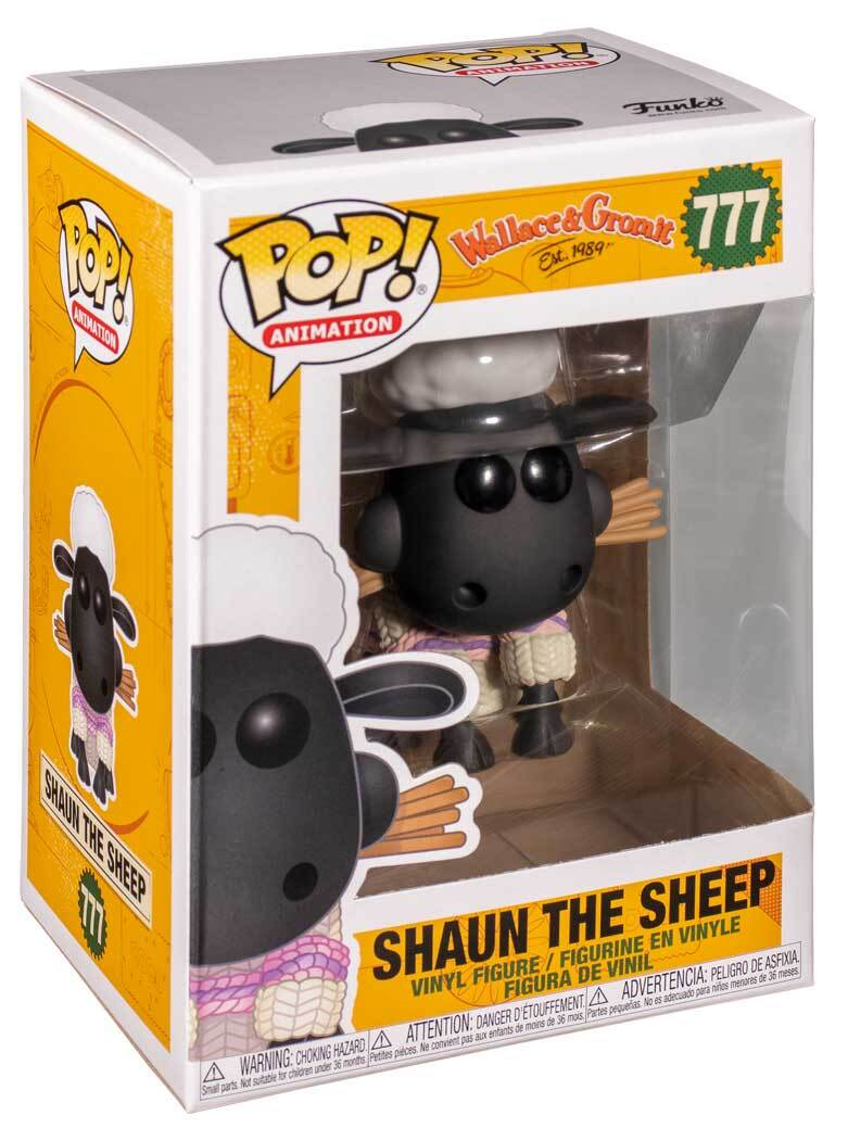 Pop Animation Wallace & Gromit 3.75 Inch Action Figure - Shaun The Sheep #777