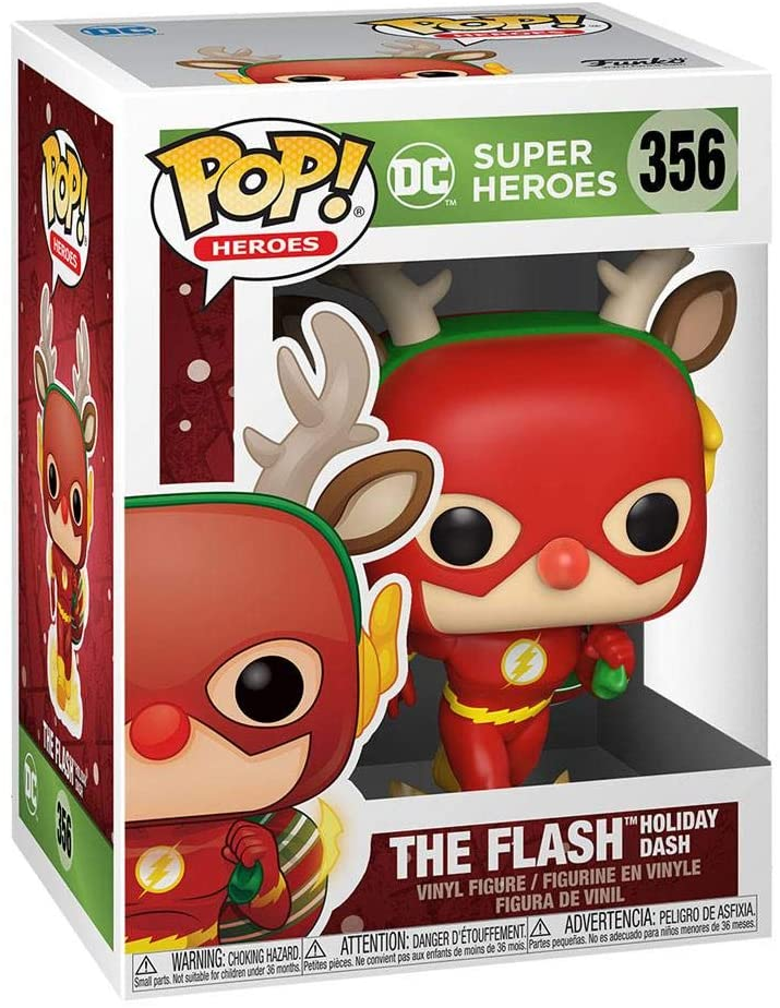 Pop DC Heroes DC Holiday 3.75 Inch Action Figure - Holiday Dash Flash #356