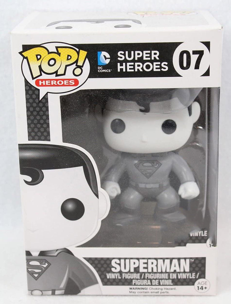 Pop DC Heroes 3.75 Inch Action Figure Superman - Superman Black & White #07 Excllusive