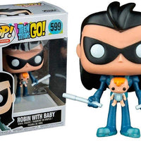 Pop DC Heroes 3.75 Inch Action Figure Teen Titans Go - Robin With Baby #599 Exclusive