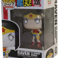 Pop DC Heroes 3.75 Inch Action Figure Teens Titans Go - Raven As Wonder Woman #335 Exclusive (Sub-Standard Packaging)