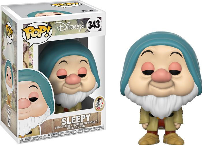 Pop Disney Snow White 3.75 Inch Action Figure - Sleepy #343