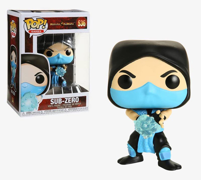 Pop Games 3.75 Inch Action Figure Mortal Kombat - Sub-Zero #536