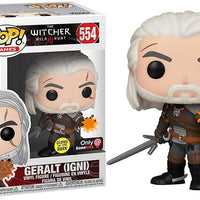 Pop Games 3.75 Inch Action Figure The Witcher - Geralt Igni #554 Exclusive