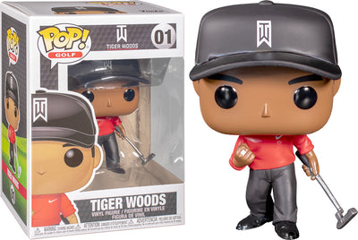 Pop Golf 3.75 Inch Action Figure Tiger Woods - Tiger Woods Red Shirt #01