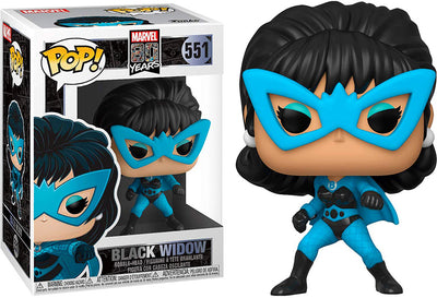 Pop Marvel 3.75 Inch Action Figure 80 Years - Black Widow Blue Outfit