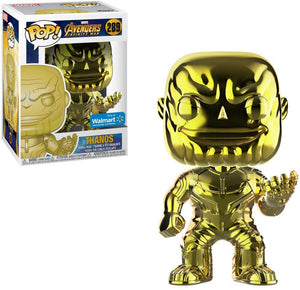 Pop Marvel 3.75 Inch Action Figure Avengers Infinity War - Gold Chrome Thanos #289 Exclusive