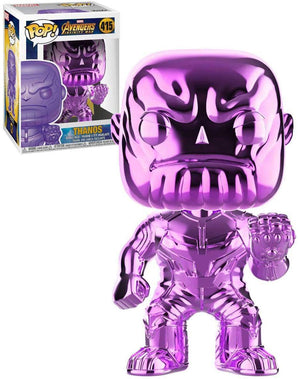 Pop Marvel 3.75 Inch Action Figure Avengers Infinity War - Pink Chrome Thanos #415