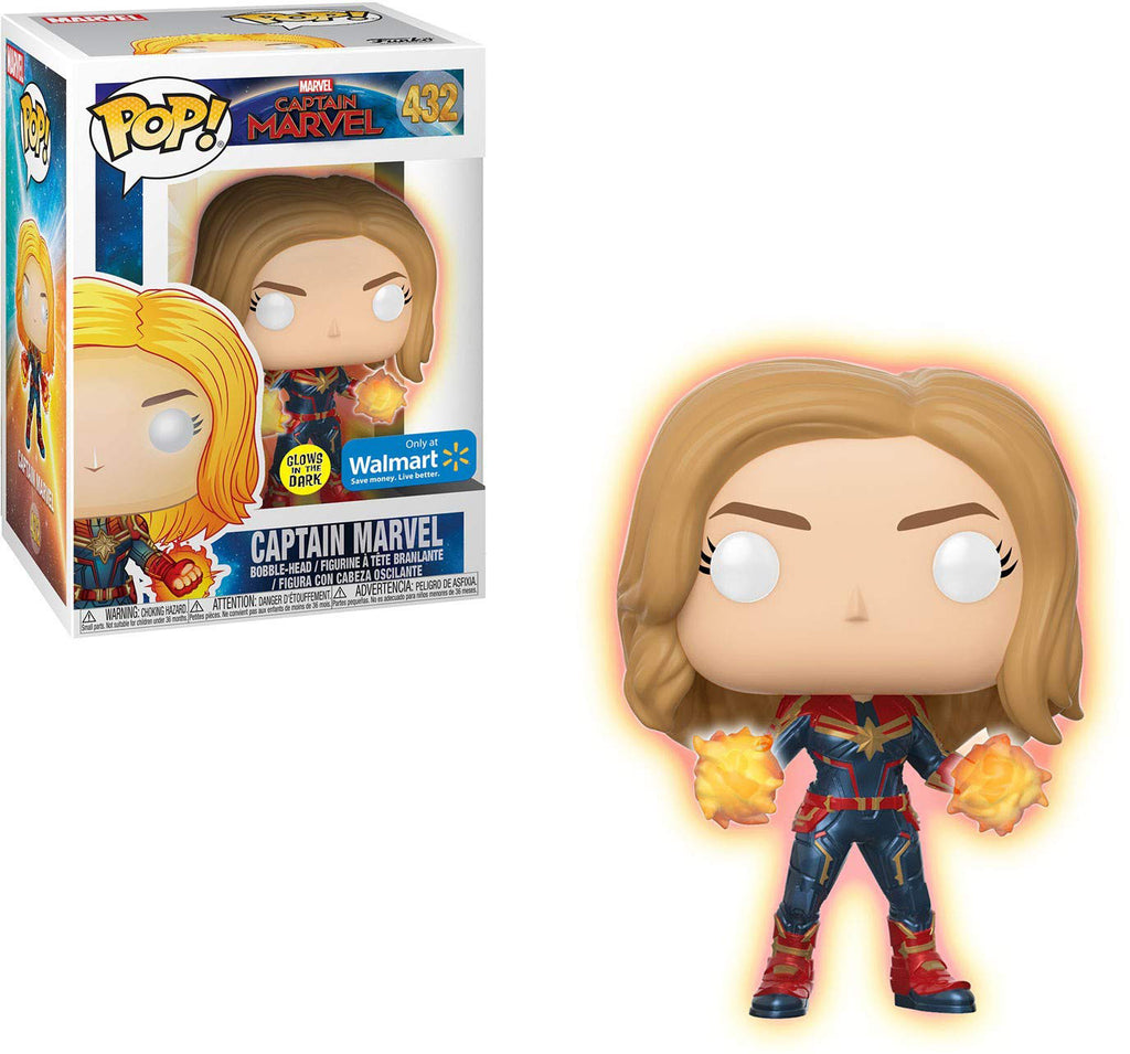 Pop Marvel 3.75 Inch Action Figure Captain Marvel - Captain Marvel #432 Exclusive
