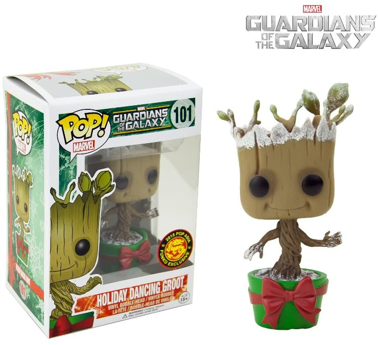 Pop Marvel 3.75 Inch Action Figure Guardians Of The Galaxy - Holiday Dancing Groot #101