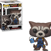 Pop Marvel 3.75 Inch Action Figure Guardians Of The Galaxy - Rocket Breakout #491 Exclusive