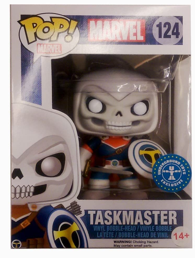 Pop Marvel 3.75 Inch Action Figure Marvel - Taskmaster #124 Exclusive