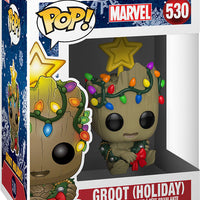 Pop Marvel 3.75 Inch Action Figure Marvel Holiday - Holiday Groot #530