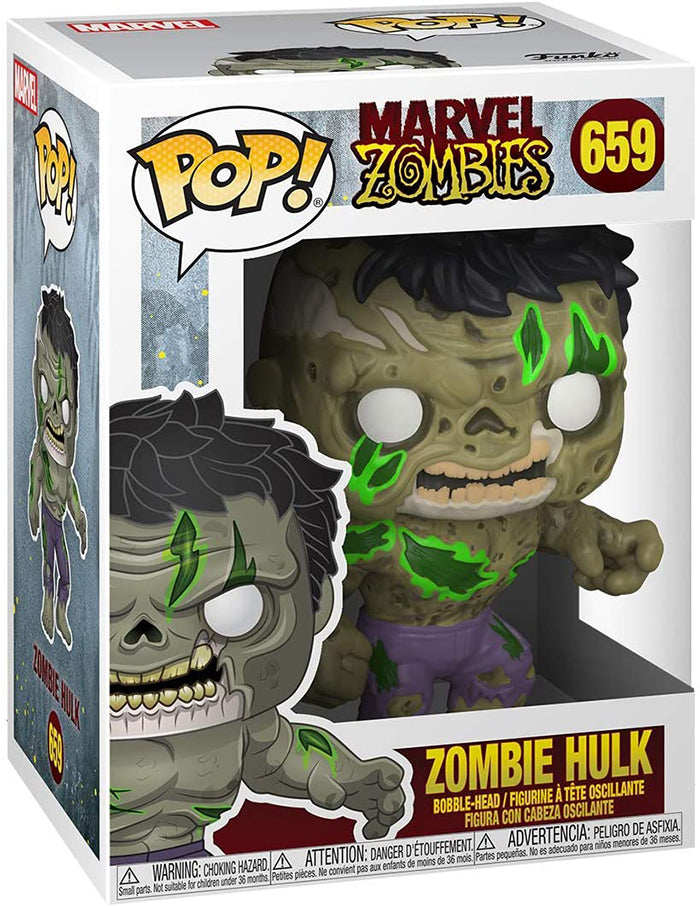Pop Marvel Marvel Zombies 3.75 Inch Action Figure - Zombie Hulk #659