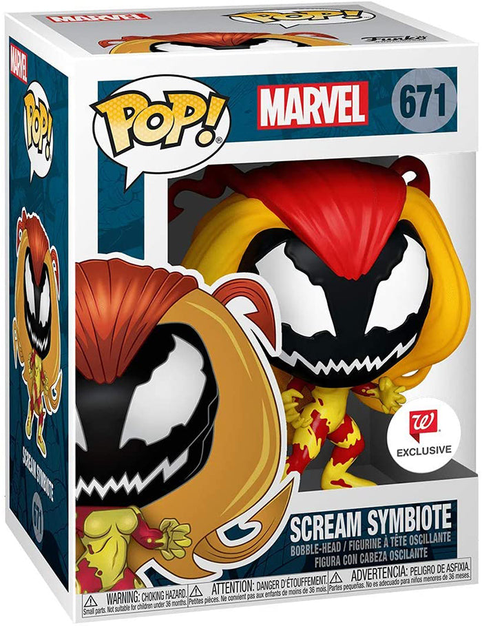 Pop Marvel Spider-Man 3.75 Inch Action Figure Exclusive - Scream Symbiote #671