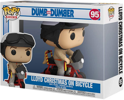 Pop Movies Dumb and Dumber 3.75 Inch Action Figure Rides - Lloyd Christmas on Bicycle #95