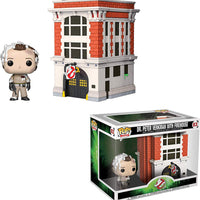 Pop Movies 3.75 Inch Action Figure Ghostbusters - Dr. Peter Venkman Wih Firehouse #03