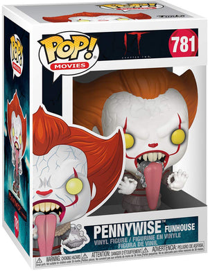 Pop Movies 3.75 Inch Action Figure IT - Pennywise With Funhouse #781