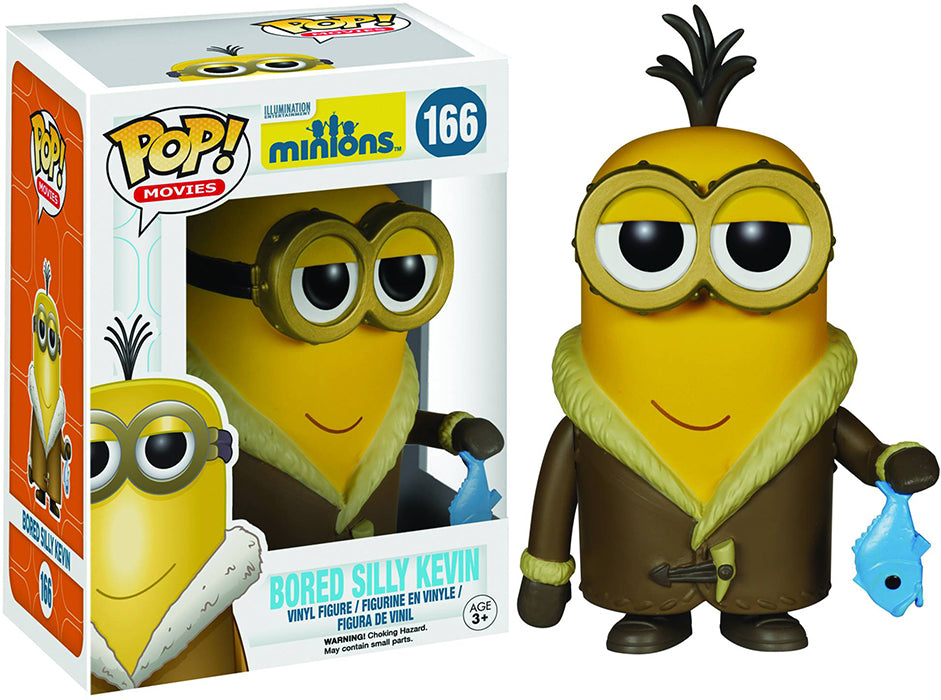 Pop Movies Minions 3.75 Inch Action Figure - Bored Silly Kevin #166